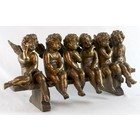 Studio Collection 6 Cherubs On Bench (Antique Gold Finish)