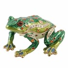 The Juliana Collection, Frog about to Jump  (Treasured Trinkets Box)