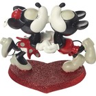 Disney Precious Moments Mickey and Minnie kissing