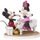 Disney Precious Moments Mickey and Minnie with piano (Musical)