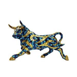 Barcino Design Bull Carnival Blue (Mozaiek effect)