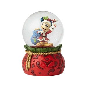 Disney Traditions Mickey Bringing Holiday Cheer Snowglobe