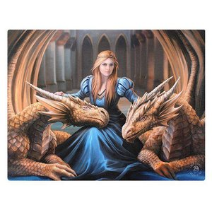 Anne Stokes Fierce Loyal Compan (Anne Stokes) 19x25 Canvas