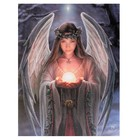 Anne Stokes Yule angel  19x25 Canvas