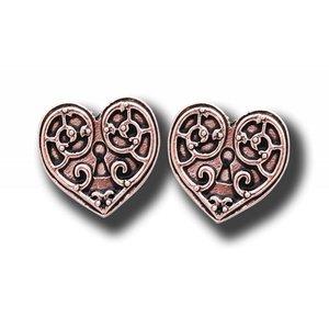 Anne Stokes Valkyrie Heart Earrings