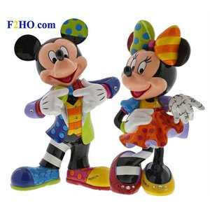 Disney Britto Special Anniversary Mickey & Minnie (SET) Figurine