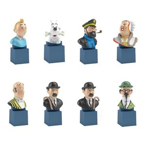Tintin (Kuifje) SET Kleine buste  Kuifje  (on base)
