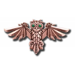 Anne Stokes Aviamore Owl Brooch