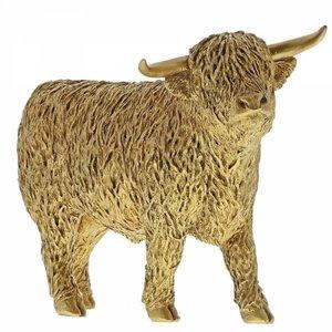 Border Fine Arts Highland Bull (Gold)
