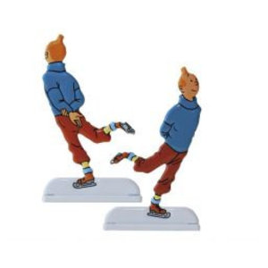 Tintin (Kuifje) Tintin Relief (Scating / Patineur)