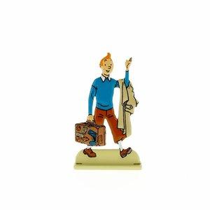 Tintin (Kuifje) Kuifje met zijn koffer (Relief)