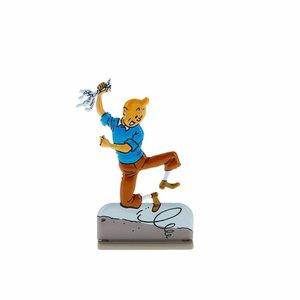 Tintin (Kuifje) Kuifje springt op van vreugde (Relief)
