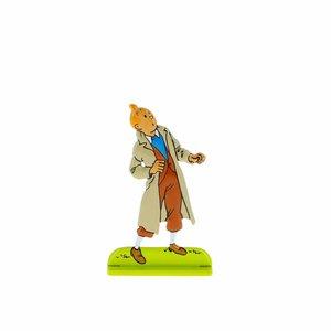 Tintin (Kuifje) Kuifje kijkt omhoog (Relief)