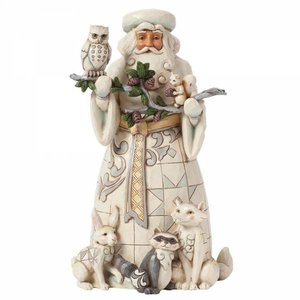 Jim Shore's Heartwood Creek Nature's Winter Wonders (White Woodland Santa with Animals)