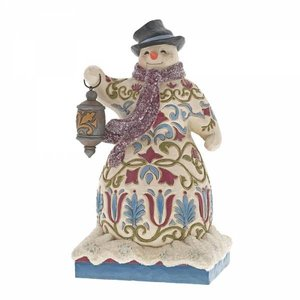Jim Shore's Heartwood Creek Be The Light (Victorian Snowman with Lantern)