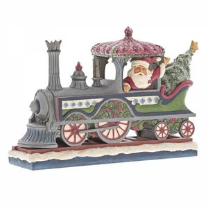 Jim Shore's Heartwood Creek Delivering A Merry Christmas (Victorian Santa in Train)