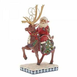 Jim Shore's Heartwood Creek Dreams Delivered (Santa Riding Reindeer)