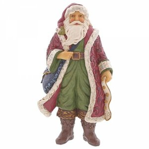Jim Shore's Heartwood Creek Christmas Is Near (Victorian Santa with Satchel)