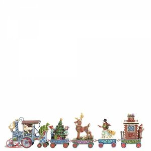 Jim Shore's Heartwood Creek The North Star Express (Holiday Express Train 5 Piece Set)