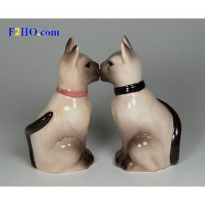 Studio Collection Siamese Salt and Pepper Shakers (Set)