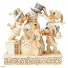 Disney Traditions Frosty Friendship (White Woodland Mickey & Friends)