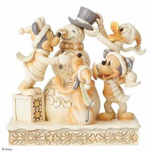 Disney Traditions Frosty Friendship (White Woodland Mickey & Friends)