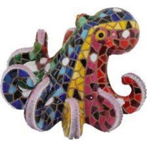 Barcino Design Octopus Rood (Mozaiek effect)