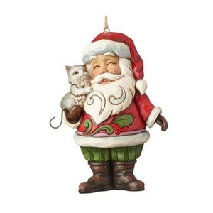 Jim Shore's Heartwood Creek Santa with Cat (HO)