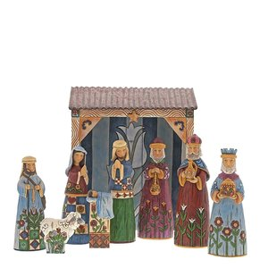 Jim Shore's Heartwood Creek Mini Nativity (Forklore)