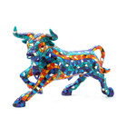 Barcino Design Bull Mosaic Blue