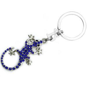 Barcino Design Keyring Salamander Swar Blue