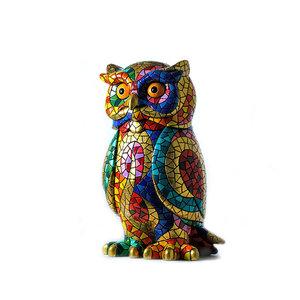 Barcino Design Owl Carnaval Mosaic effect (11cm)