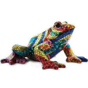 Barcino Design Kikker Carnaval Mosaic effect  (45cm)