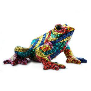 Barcino Design Kikker Carnaval Mosaic effect  (18cm)