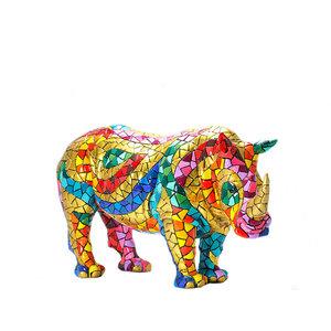 Barcino Design Neushoorn Carnaval Mosaic effect (15cm)