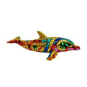 Barcino Design Dolfijn  Carnaval Mosaic effect (18cm)