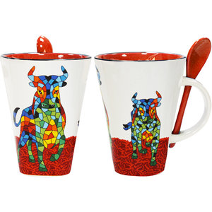 Barcino Design Mug Stier  (met lepel)