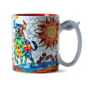 Barcino Design Mug Stier  (Hydraulic) 9.5cm