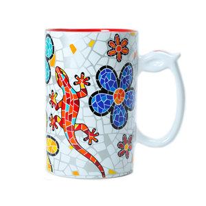 Barcino Design Mug XL Salamander-Flowers (Hydraulic) 13cm