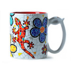 Barcino Design Mug Salamander-Flowers (Hydraulic) RED