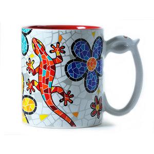 Barcino Design Mug Salamander-Flowers (Hydraulic) 9.5cm