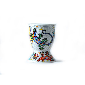 Barcino Design Eggcup Salamander-Flowers  (Hydraulic)