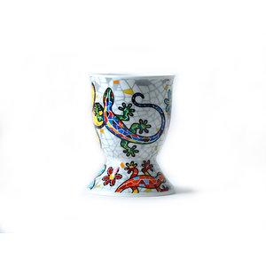 Barcino Design Eierdop Salamander-Flowers  (Hydraulic)