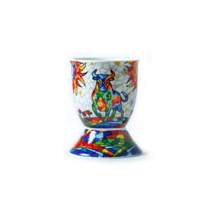 Barcino Design Eggcup Bull-Flowers  (Hydraulic)  - Copy