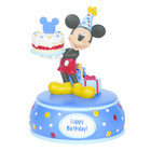Disney Precious Moments Mickey Mouse with cake (Musical)