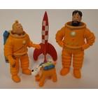 Tintin (Kuifje) Kuifje Kosmonaut (8 cm)  SET