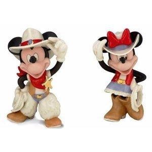 Disney Lenox Rodeo Mickey & Minie SET