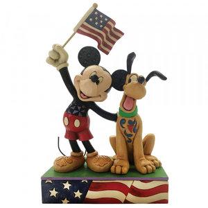 Disney Traditions Mickey & Pluto Patriotic (A Banner Day)