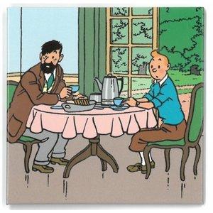 Tintin (Kuifje) Magneet Kuifje/Haddock (ontbijt)