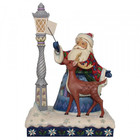 Jim Shore's Heartwood Creek Santa by Lighted Lamppost